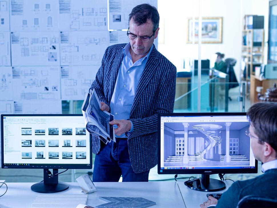 Progettazione con software 2D e 3D.